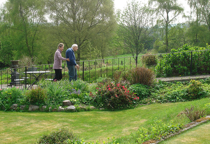 Beautiul grounds and garden at Tracey House Care Home