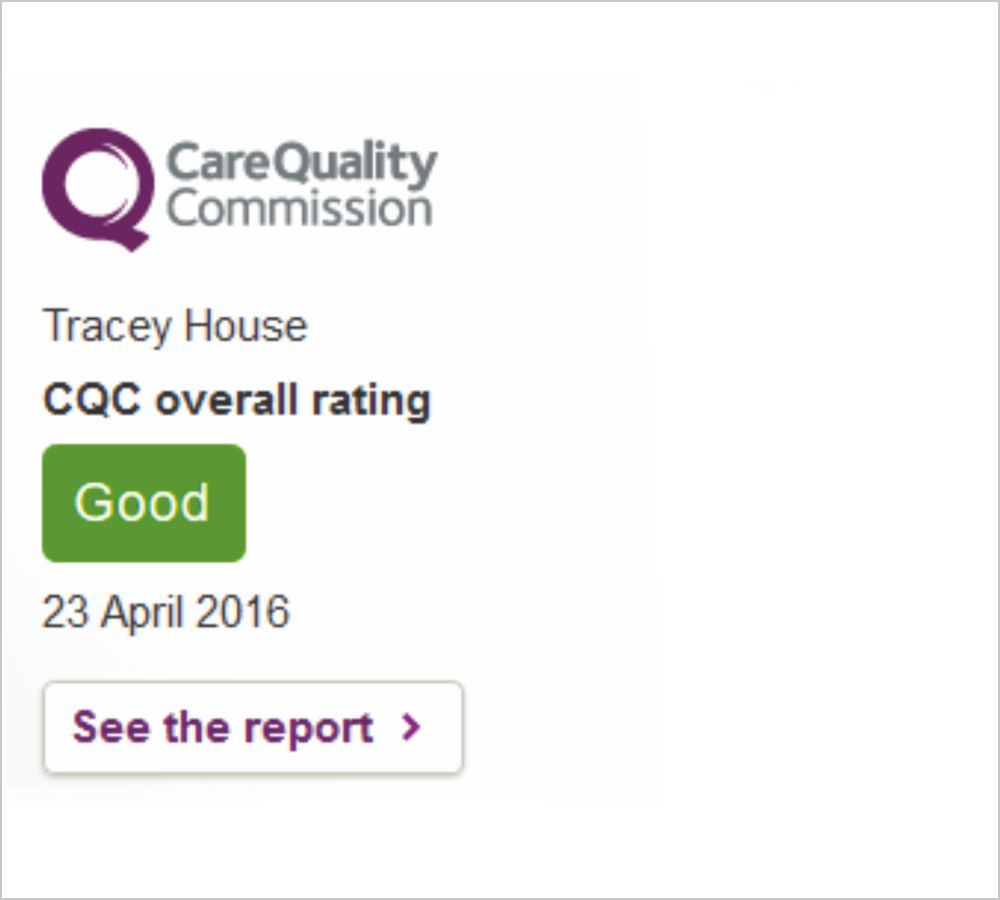 Care Quality Comission - Tracey House